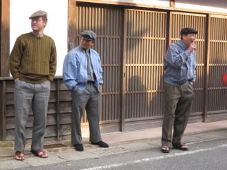 昭和39年の衣装に変装