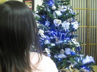 公民館のクリスマスツリー