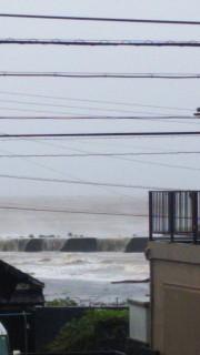 台風一過の海岸