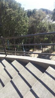 地蔵祭りの階段